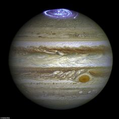 Scientists are using the Hubble Space Telescope to watch Jupiter's aurora (pictured) for m...
