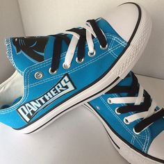 Carolina Panthers Converse Shoes - http://cutesportsfan.com/carolina-panthers-designed-sneakers/