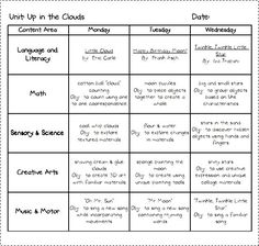 monthly lesson plan template word