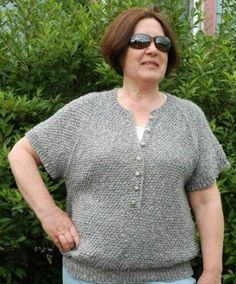 This relaxed fit sweater knitting pattern is meant for lazy summer days and nights spent outdoors enjoying the weather. Knit with ribbed edges and the attractive sand stitch, the sweater's simple construction makes it a staple pattern for the warmer