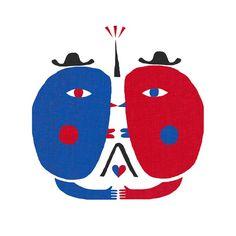 Illustrator Craig Hopson / Personal piece for Paris Kingston Upon Thames, Freelance Illustrator, Unique Art, Playroom, Illustrators, Wings, Tropical, Kids Rugs, Paris