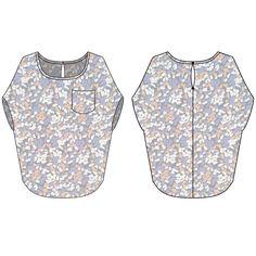 patron de couture femme - blouse Marguerite