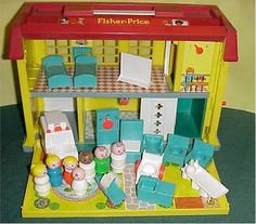 i loved these little fisher price people when i was little! the hospital was favorite <3