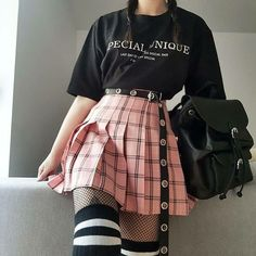 Korean Fashion – How to Dress up Korean Style – Designer Fashion Tips Edgy Outfits, Mode Outfits, Korean Outfits, Grunge Outfits, Girl Outfits, Fashion Outfits, Pastel Goth Outfits, Pastel Goth Style, Pastel Goth Fashion