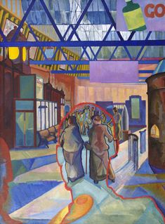 Caley Station, 1942 - Edwin George Lucas; A Capital View exhibition, spring 2014