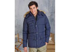 #Parka #Jacke mit Kapuze und PVC-Beschichtung. Stilsicher durch den #Winter Winter Jackets, Fashion, Corporate Gifts, Cowl, Jackets, Winter Coats, Moda, La Mode, Fasion
