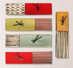 Box Clocks by Ed & Kate Coleman #ceramics