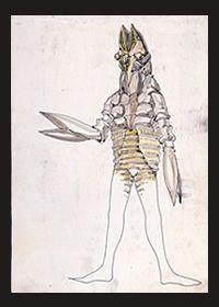 (Alien Baltan's concept art) バルタン星人決定稿