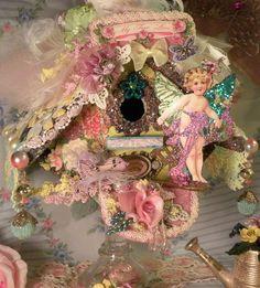 Image detail for -Shabby chic bird house Shabby Chic Crafts, Vintage Crafts, Shabby Chic Decor, Fun Crafts, Arts And Crafts, Paper Crafts, Decoration Shabby, Altered Art, Altered Images