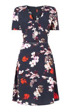 Midnight Blossom Dress