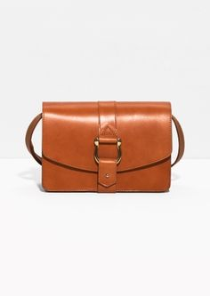 & Other Stories | Push Pin Buckle Leather Crossbody $135