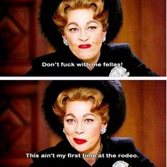 Whilst I don't think 'Mommie Dearest' was the most accurate depiction of Joany (Christina Crawford even said this), I love to think that Joan would have come out with this one liner <3