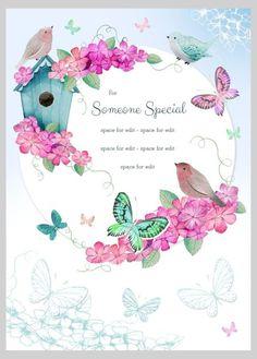 Victoria Nelson - Bird Birdhouse Floral Butterflies Blossom 1