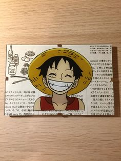 Luffy One Piece glass painting