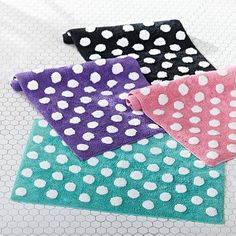 Dottie Bath Mat #pbteen http://www.pbteen.com/products/dottie-bath-mat/?pkey=cbath-towels-dorm&