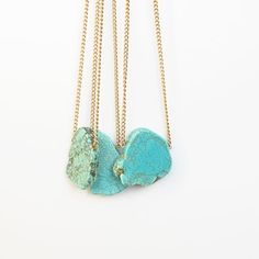 Turquoise jewelry, kind of reminds me of a necklace I have but I like the stone used for these