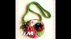 Natalya Melnik - YouTube Crochet Videos, Kids Backpacks, Gift Bags, Washer Necklace, Crochet Necklace, Purses, Christmas Ornaments, Knitting, Holiday Decor