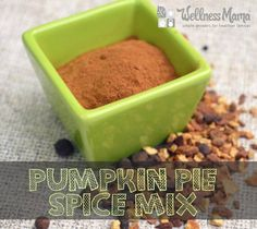 Pumpkin Pie Spice Mix: I've seen tons of recipes calling for this. Can't buy it commercially in Australia anyway.