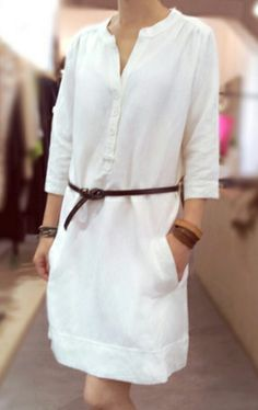 2cf3913b3288e Inspiration for a  lieslandco  gallerytunic dress in linen. Anne Loiseau ·  Robe