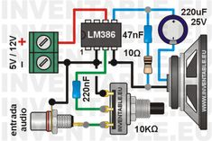 An easy-to-build amplifier circuit laloss amplia Electronics Mini Projects, Electronic Circuit Projects, Hobby Electronics, Electrical Projects, Electronics Components, Electronic Engineering, Electronics Gadgets, Electronic Schematics, Diy Speakers