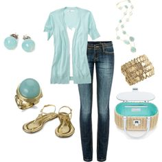 Love the spark of the aqua blue.  It would be perfect from winter to spring outfit.