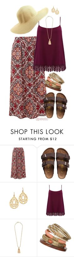 """""""Birks Are Back"""" by qtpiekelso ❤ liked on Polyvore featuring mode, Birkenstock, Juicy Couture, M&Co, J.Crew, Wallis, Charlotte Russe et plus size clothing"""