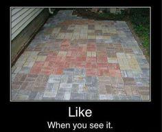 Mario paver patio