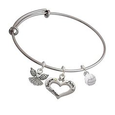 3-D White Volleyball Believe in Angels Expandable Bangle Bracelet  #volleyballgifts #volleyballcharmbracelet #guardianangels #delightjewelry  https://www.amazon.com/gp/aw/d/B01J6GB7RI/ref=mp_s_a_1_33?ie=UTF8&qid=1473734072&sr=8-33&pi=AC_SX236_SY340_QL65&keywords=volleyball+bangle+bracelet&dpPl=1&dpID=41f9pv-SUzL&ref=plSrch