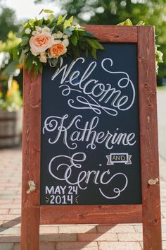ST Comment: Love this for accents on the signs. We will have a few really pretty signs that we would like to have some flowers be accents to.   Photography: Almond Leaf Studios - almondleafstudios.com Read More: http://www.stylemepretty.com/2015/03/25/romantic-north-carolina-wedding-at-the-biltmore/
