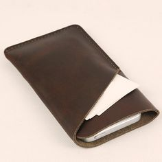 Leather iPhone Wallet , iphone Case  , iphone sleeve -iPhone Leather Case - (820) on Etsy, $29.00