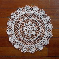My favorite doily pattern. I didn't think I would have a favorite doily pattern for another 60 years, but there you go.