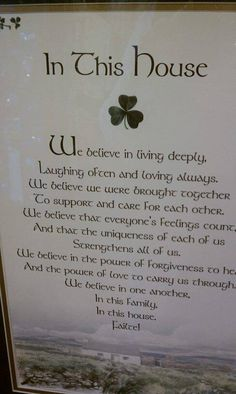 Irish Blessing ...