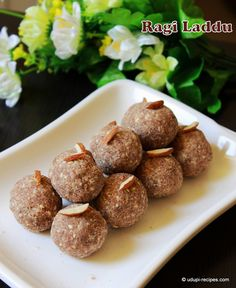 Ragi Laddu | Finger Millet Balls - A healthy and nutritious laddu to snack on after school