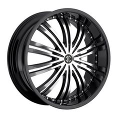 No 1 Black/Machined w/ Black Lip - One of the newer and quickly growing wheel companies out there is 2 Crave wheels. With a variety of different finishes on their styles, with 2 Crave you always have a good choice for your vehicle. Introducing the No 1 BLACK/MACHINED W/BLACK LIP. Make 2 Crave Wheels your next Wheel and Tire Package choice. http://www.kxwheels.com/