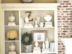 I LOVE this decor look - like the mix of rustic, fancy, nature and simple color scheme.  AND - this is the whitewash look I wanna do on my kitchen wall...