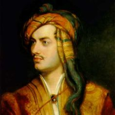 Lord Byron. The writer who penned 'She Walks in Beauty. Adam ends up giving her one of Byron's most famous books and it becomes dog-eared from use.