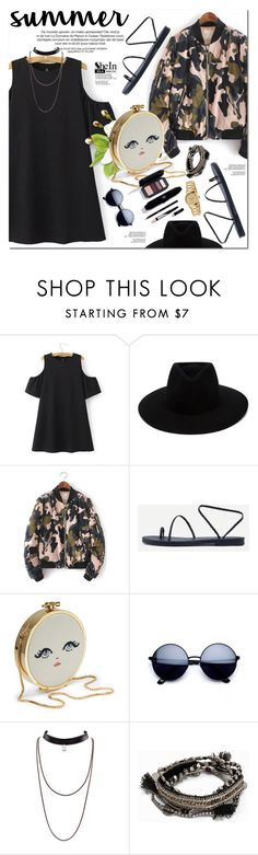 """""""Shein"""" by oshint ❤ liked on Polyvore featuring WithChic, rag & bone, Pieces and Gucci"""