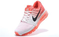 Nike Flyknit Max 2017 Womens running shoes White red berry