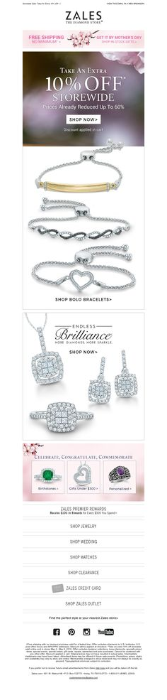 Example of ZALES Mother's Day Promotion, New BOLO Bracelets, Private Collections