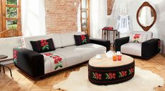 Bucovina - between modern and traditional Sofa, Couch, Traditional House, My Dream Home, Interior, Furniture, Design, Home Decor, Style