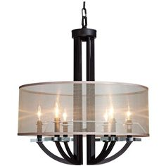 """Artcraft Stowe 24"""" Wide Oil Rubbed Bronze Pendant Light (206.400 HUF) ❤ liked on Polyvore featuring home, lighting, ceiling lights, chandeliers, oil rubbed bronze light, oil rubbed bronze pendant light, oil rubbed bronze lighting, oil rubbed bronze pendant lights and oil rubbed bronze lamp"""