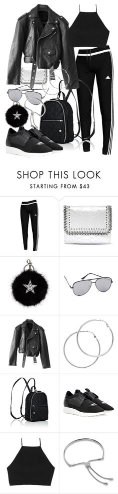 """""""Untitled #21152"""" by florencia95 ❤ liked on Polyvore featuring adidas, STELLA McCARTNEY, Quay, Jean-Paul Gaultier, Melissa Odabash, Balenciaga, rag & bone and Monica Vinader"""
