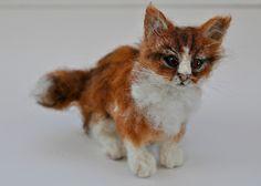 Needle felted Ginger kitten | Flickr - Photo Sharing!