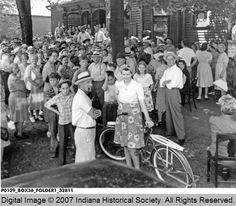 Auction at Barton & Ohio Streets - 1944, Terre Haute, Indiana
