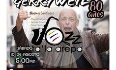 El gran jazzman Gerry Weil celebra su octogésimo aniversario con un concierto en Caracas en el Centro Cultural BOD este sábado 10 de agosto y en Areparadio.com le rendimos un humilde tributo a su trayectoria musical en Jazz 'Ta La Arepa, programa conducido por Tita de Moncada y que se transmite todos los jueves y domingos a las 7am y 7pm hora venezolana Musical, Jazz, Movies, Movie Posters, Cultural Center, Thursday, Caracas, Concert, Films