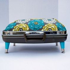Suitcase Pet Bed from Vintage 70s Samsonite by Spaghetteria, $75.00