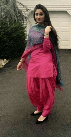 Pink Patiyala suit