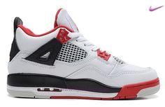 separation shoes 723d0 e6e0a Bianco Rosso Nero AIR JORDAN 4 RETRO 308497-110 Uomo-Donna