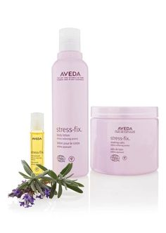 """Stressed out? Stop in and sample our """"Stress-Fix"""" Aveda collection!"""