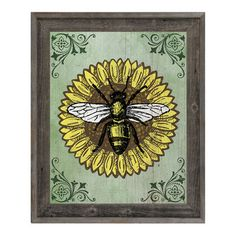 "Click Wall Art 'Bee Sunny' Framed Graphic Art Size: 33.5"" H x 23.5"" W x 1"" D"